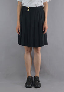 ART SCHOOL MSKRT005 PLEATED SCHOOL SKIRT BLACK - DOSHABURI Shop