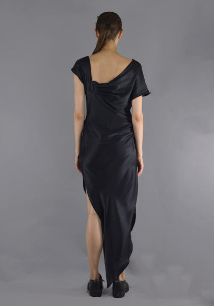 ART SCHOOL MDRS001 DAGGER DRESS BLACK SILK - DOSHABURI Shop