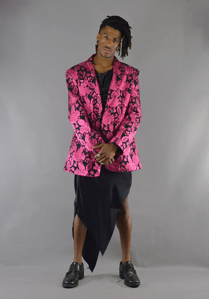 ART SCHOOL MJCKT004 OVERSIZED TAILORED JACKET PINK - DOSHABURI Shop