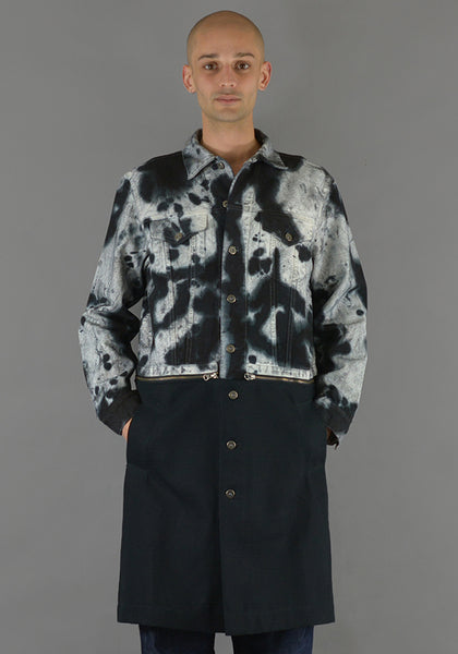 AYCH MCH311 TIE DYE COAT BLACK/WHITE - DOSHABURI Shop