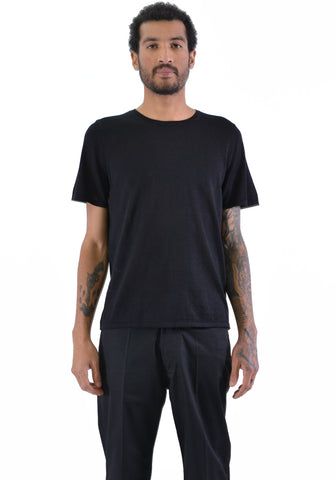 BIELO CASH KNIT T-SHIRT BLACK - DOSHABURI Shop