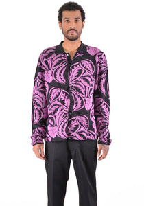 BIELO CARO LONG SLEEVES SHIRT BLACK/PINK - DOSHABURI Shop