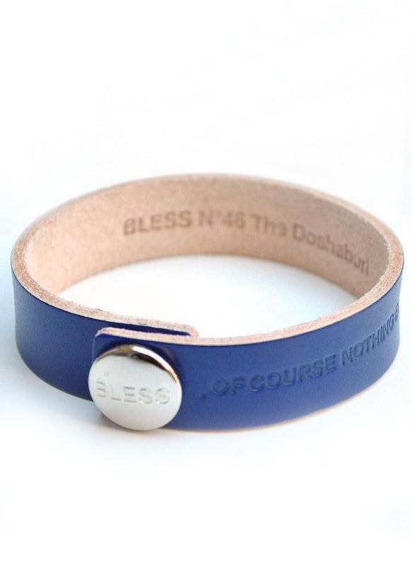 BLESS NO.46 LEATHER STRIPE ELECTRIC BLUE DOSHABURI LIMITED EDITION - DOSHABURI Shop