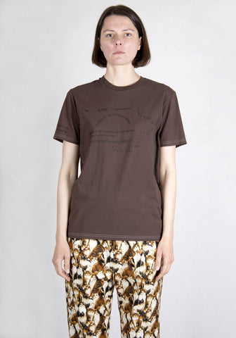 BLESS N°69 MULTIKULTICOLLECTION II T-SHIRT DIRK BROWN | DOSHABURI Shop