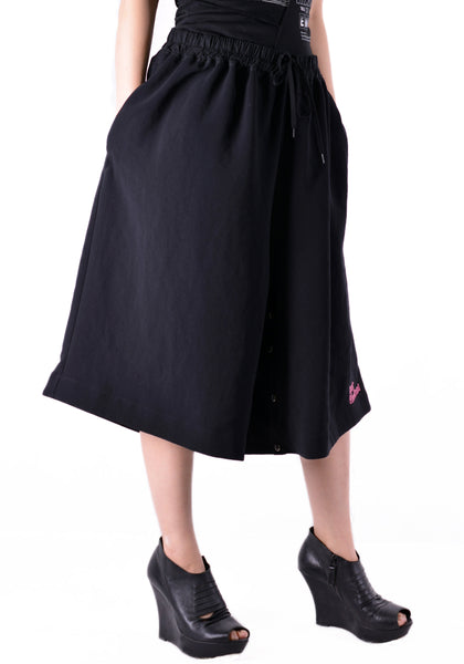 BERNHARD WILLHELM S20//112 WIDE SHORT PANTS BLACK - DOSHABURI Shop