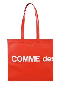 COMME DE GARCONS SA9001HL UNISEX LOGO TOTE BAG RED - DOSHABURI Shop