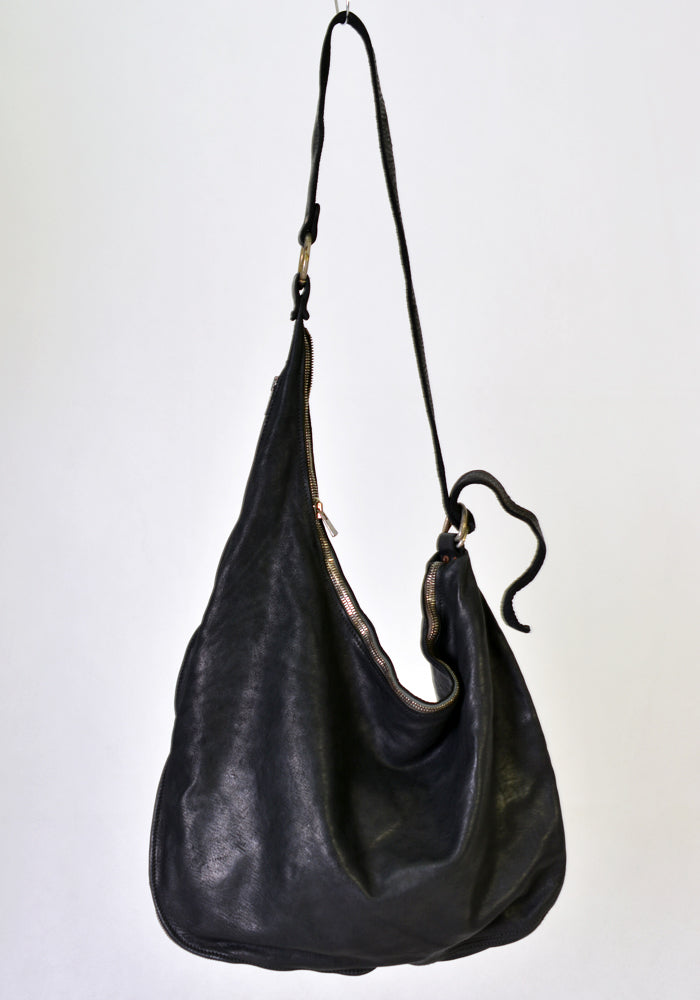 GUIDI SZ01 SOFT HORSE FULL GRAIN SHOULDER BAG BLACK | DOSHABURI Online Shop