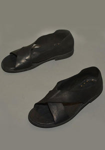 GUIDI MENS KANGAROO LEATHER CROSS SANDALS BLACK - DOSHABURI Shop