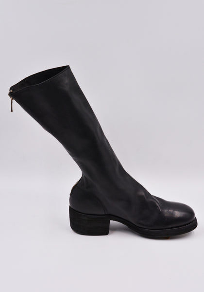 GUIDI 789Z SOFT HORSE FULL GRAIN LEATHER HIGH ZIP BOOTS BLACK | DOSHABURI Online Shop