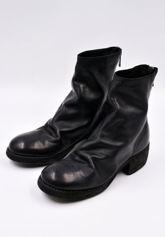 GUIDI 796Z SOFT HORSE FULL GRAIN LEATHER SHORT BOOTS BLACK | DOSHABURI Online Shop
