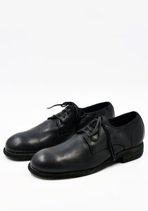 GUIDI 992X DONKEY FULL GRAIN LEATHER CLASSIC DERBY SHOES BLACK