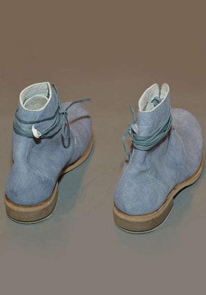 IS BY INDIVIDUAL SENTIMENTS MENS 5 HOLE LEATHER BOOTS BLUE-GREY - DOSHABURI Shop