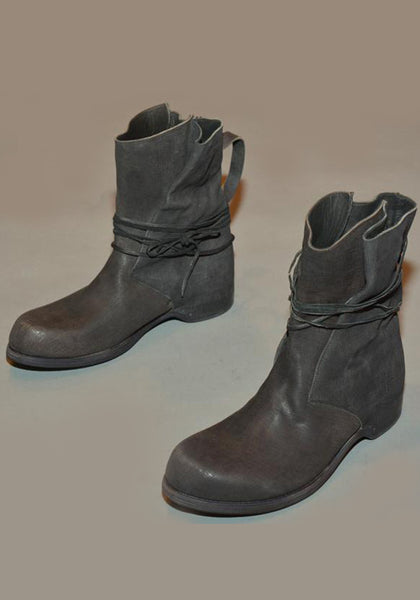 IS BY INDIVIDUAL SENTIMENTS MENS ANKLE STRING BOOTS BLACK - DOSHABURI Shop