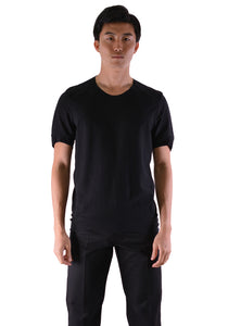 INDIVIDUAL SENTIMENTS CT61S-LJ41 UNISEX WOVEN TUCK T-SHIRT BLACK - DOSHABURI Shop