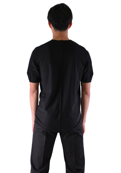 INDIVIDUAL SENTIMENTS CT61S-LJ41 TUCK T-SHIRT BLACK - DOSHABURI Shop