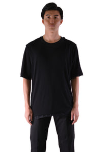 INDIVIDUAL SENTIMENTS CT5S-LJ36 UNISEX WOVEN LAYERED T-SHIRT BLACK - DOSHABURI Shop
