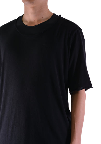 INDIVIDUAL SENTIMENTS CT5S-LJ36 LAYERED T-SHIRT BLACK - DOSHABURI Shop
