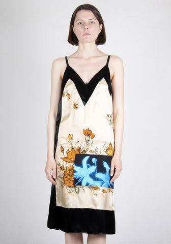 KWAIDAN EDITIONS SS21WD047W VCP PANELLED SLIP DRESS FLOWER PRINT 2021SS | DOSHABURI Online Shop