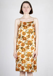 KWAIDAN EDITIONS SS21WD051W VP SLIP DRESS ORANGE FLOWER PRINT SS21 | DOSHABURI Online Shop