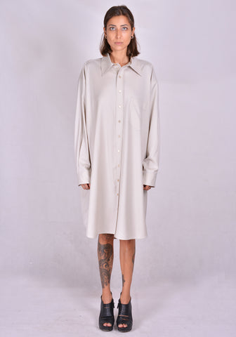 KWAIDAN EDITIONS AW20WD041W-LW SHIRT DRESS SAND 2020FW | DOSHABURI Online Shop