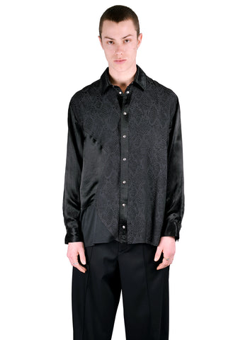 KOCHE KPS20TP03 HEXAGONE SHIRT BLACK - DOSHABURI Shop