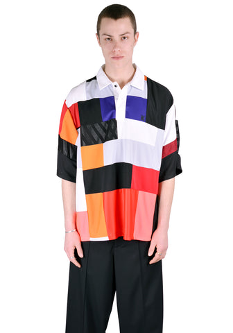 KOCHE KPS20TP48 COLOR BLOCK SHORT SLEEVE POLO MULTI COLOR - DOSHABURI Shop