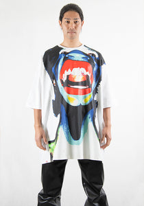 CHARLES JEFFREY LOVERBOY CJLPS21OT OVERSIZED T-SHIRT WHITE SCREAM 21SS | DOSHABURI Online Shop