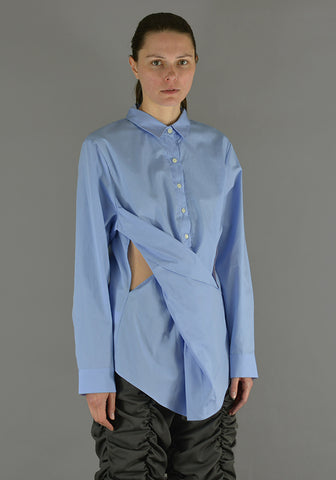 LUTZ HUELLE LU1010 TWIST SHIRT SKY BLUE - DOSHABURI Shop