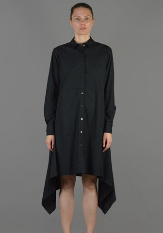 LUTZ HUELLE LU1010 BACK DRAPE LONG SHIRT BLACK - DOSHABURI Shop