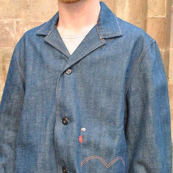 LEVI'S RED DENIM JACKET 1ST COAT - DOSHABURI Shop