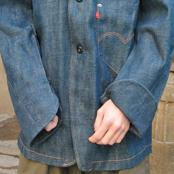 LEVI'S RED DENIM JACKET 1ST COAT