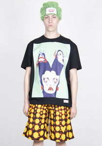 CHARLES JEFFREY LOVERBOY CJLSS21AT ARTWORK TEE BLACK WITH GREEN TCHUM | DOSHABURI Online Shop