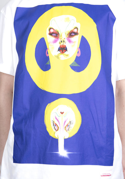 CHARLES JEFFREY LOVERBOY CJLSS21AT ARTWORK T-SHIRT WHITE BLUE PLALLAL | DOSHABURI Online Shop