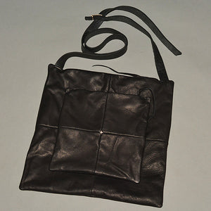 m.a+ by Maurizio Amadei LEATHER MESSENGER BAG MATTE BLACK - DOSHABURI Shop
