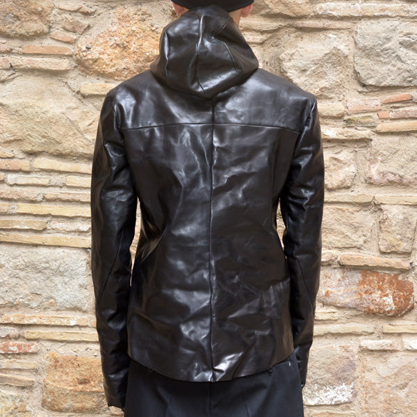 m.a+ by Maurizio MENS RELAXED AVIATOR LEATHER JACKET BLACK - DOSHABURI Shop