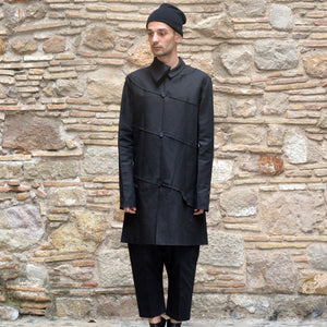 m.a+ by Maurizio Amadei SPIRAL BODY COAT BLACK - DOSHABURI Shop