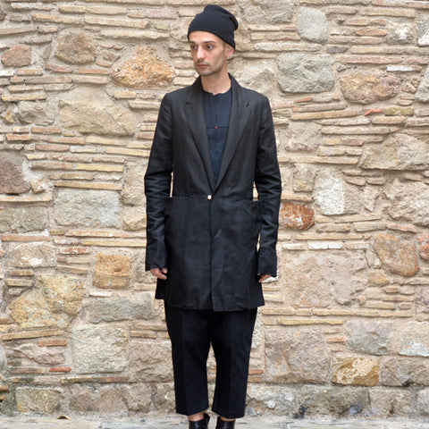 m.a+ by Maurizio MENS LONG UNLINED JACKET BLACK - DOSHABURI Shop