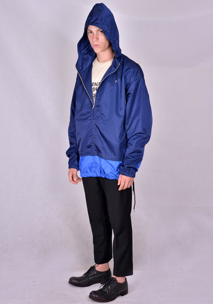 MARNI JUMU00633QS ZIPPED WIND BREAKER NAVY/BLUE 2020FW