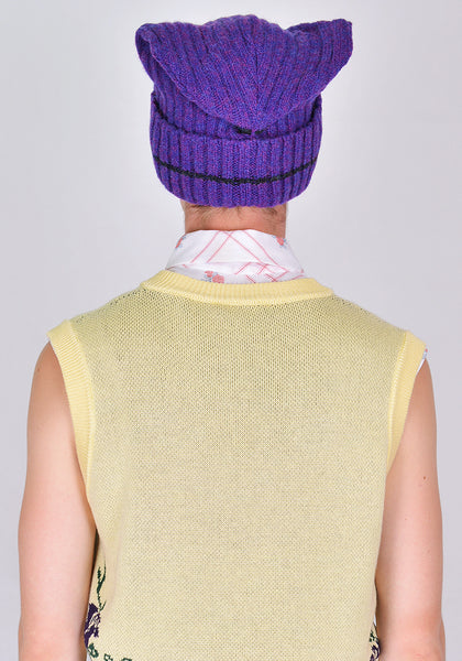 MARNI CLZC0047Q0 KNIT HAT PURPLE 2020FW | DOSHABURI Online Shop