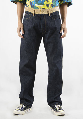 MARNI PUJU0017QM DENIM TROUSERS BLUE 2021SS | DOSHABURI Online Shop