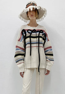 OTTOLINGER SS21KNSW01C CARL STRIPE KNIT SWEATER FLUFF CREAM SS21 | DOSHABURI online Shop