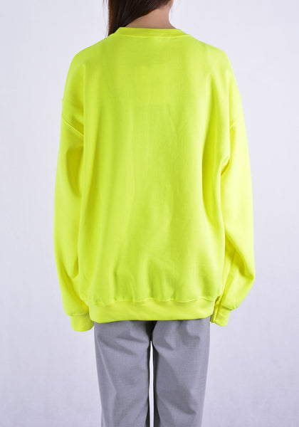 PAULA CANOVAS DEL VAS AE001 FLOWER EMBOSSED SWEAT SHIRT YELLOW