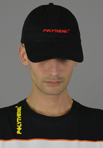 POLYTHENE* OPTICS POC02BLK LOGO CAP BLACK 2019SS-Sale 50%OFF-DOSHABURI Online Shop