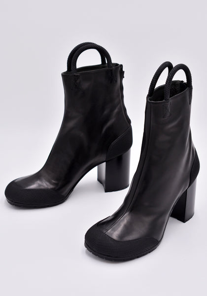 RANDOM IDENTITIES BOOT-01 WORKER LEATHER BOOT BLACK | DOSHABURI Online Shop