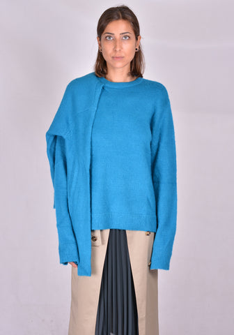 ROKH R3CA20 MH MOHAIR DOUBLE KNIT SWEATER ELECTRIC BLUE FW20 | DOSHABURI Online Shop