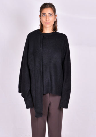 ROKH R3CA20 MH MOHAIR DOUBLE KNIT SWEATER BLACK 2020FW | DOSHABURI Online Shop