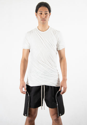 RICK OWENS RU21S6256 UC 11 DOUBLE LAYERED T-SHIRT MILK 2021SS | DOSHABURI Online Shop
