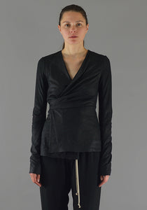 RICK OWENS RP19F5715 LBA WRAPPED MERCURY JACKET BLACK - DOSHABURI Shop