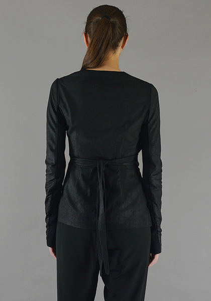 RICK OWENS RP19F5715 LBA WRAPPED MERCURY JACKET BLACK 19FW-DOSHABURI Online Shop