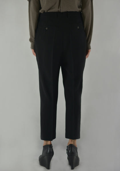 RICK OWENS RO19F5309 WE EASY ASTAIRES PANTS BLACK - DOSHABURI Shop